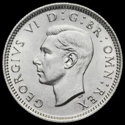 1944 George VI Silver Sixpence Obverse