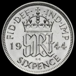 1944 George VI Silver Sixpence Reverse