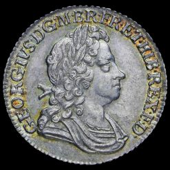 1723 George I Early Milled Silver SSC Shilling Obverse