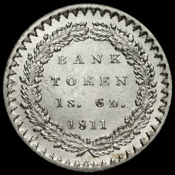 1811 George III Silver Eighteenpence Bank Token Reverse