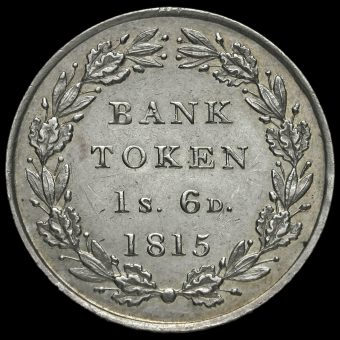 1815 George III Silver Eighteenpence Bank Token Reverse