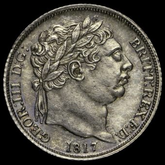 1817 George III Milled Silver Sixpence Obverse
