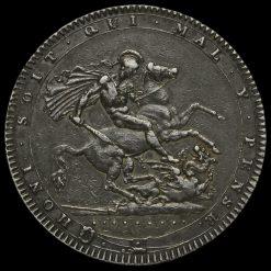 1820 George III Milled Silver LX Crown Reverse