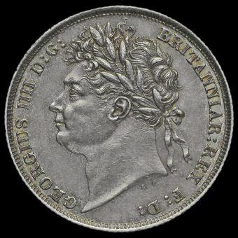 1824 George IV Milled Silver Shilling Obverse