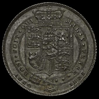 1825 George IV Milled Silver Sixpence Reverse