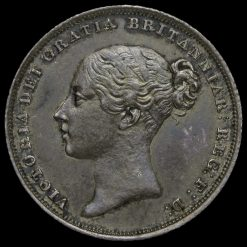 1838 Queen Victoria Young Head Silver Shilling Obverse