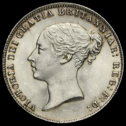1867 Queen Victoria Young Head Silver Sixpence Obverse