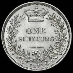 1872 Queen Victoria Young Head Silver Shilling Reverse