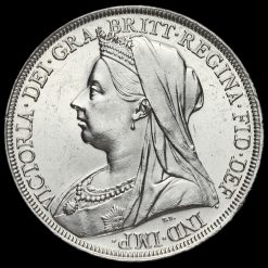 1897 Queen Victoria Veiled Head Silver LX Crown Obverse