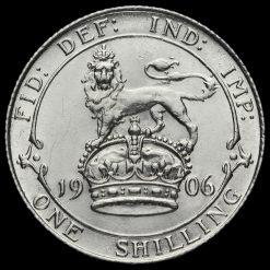 1906 Edward VII Silver Shilling Reverse
