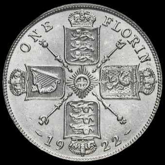 1922 George V Silver Florin Reverse