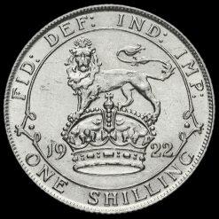 1922 George V Silver Shilling Reverse