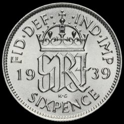 1939George VI Silver Sixpence Reverse
