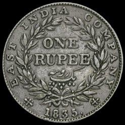 British India 1835 William IV One Rupee Reverse