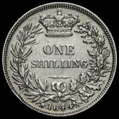 1844 Queen Victoria Young Head Silver Shilling Reverse