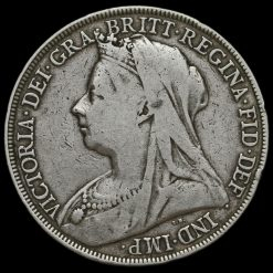 1893 Queen Victoria Veiled Head LVII Crown Obverse