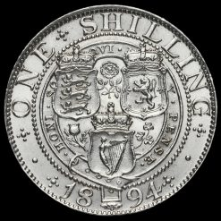 1894 Queen Victoria Veiled Head Silver Shilling Reverse