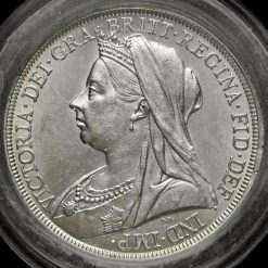 1896 Queen Victoria Veiled Head LX Crown Obverse
