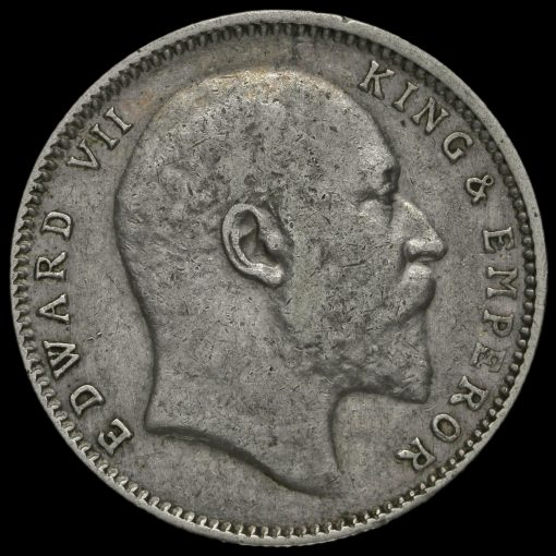 British India 1907 Edward VII One Rupee Obverse