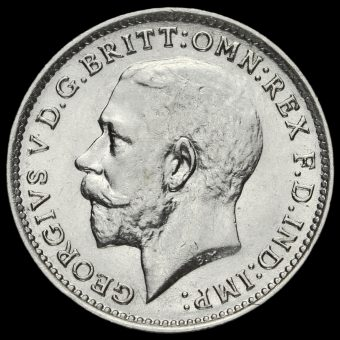 1916 George V Silver Threepence Obverse