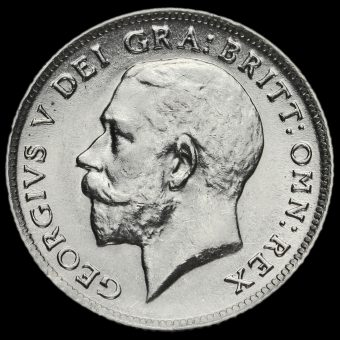 1916 George V Silver Sixpence Obverse