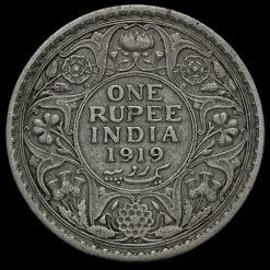 British India 1919 George V One Rupee Reverse