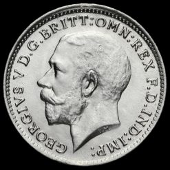 1921 George V Silver Threepence Obverse