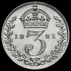1921 George V Silver Threepence Reverse