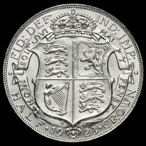 1923 George V Silver Half Crown Reverse