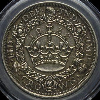 1930 George V Silver Wreath Crown Reverse