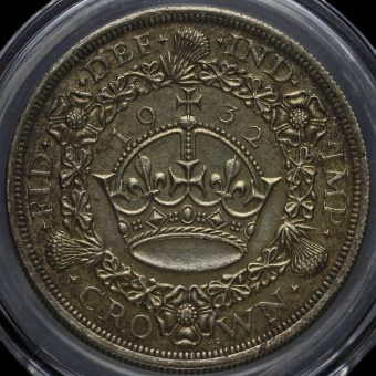 1932 George V Silver Wreath Crown Reverse