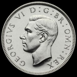 1937 George VI Silver Proof Two Shilling Coin / Florin Obverse
