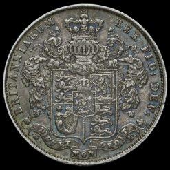 1826 George IV Milled Silver Half Crown Reverse