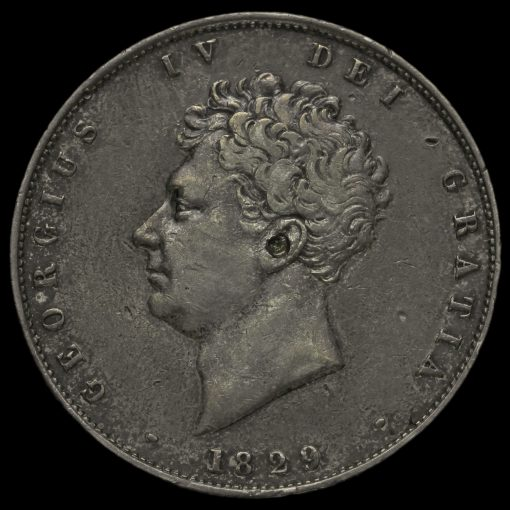 1829 George IV Milled Silver Half Crown Obverse