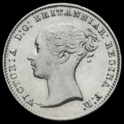 1844 Queen Victoria Young Head Silver Fourpence / Groat Obverse