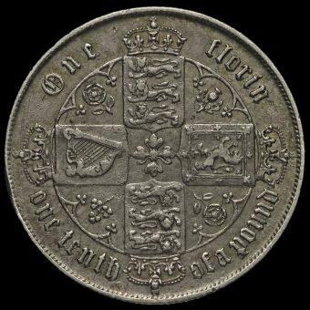 1859 Queen Victoria Gothic Florin Reverse