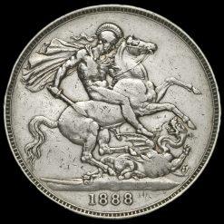 1888 Queen Victoria Jubilee Head Silver Crown Reverse