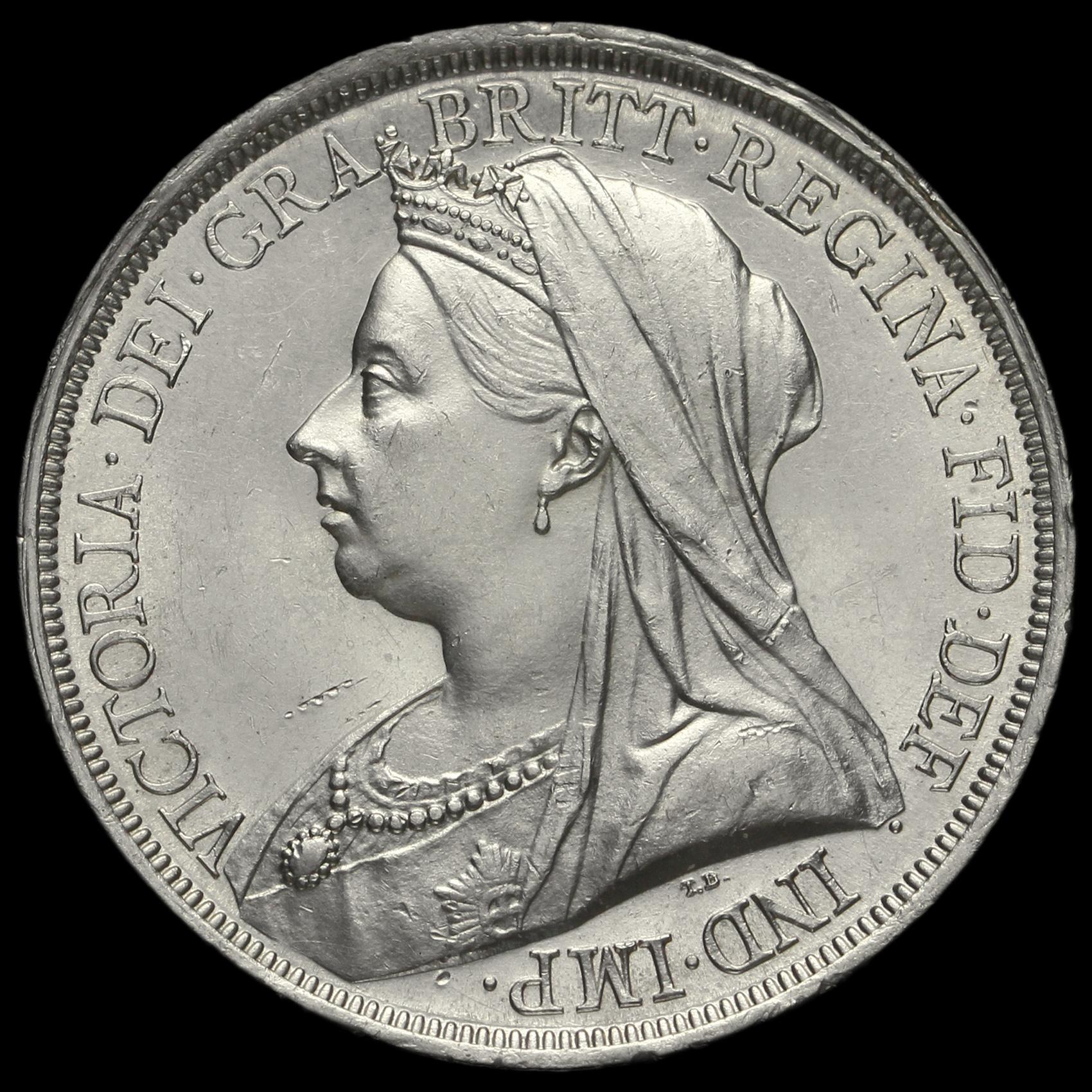 1893 Queen Victoria Veiled Head Silver Lvi Crown G Ef 2