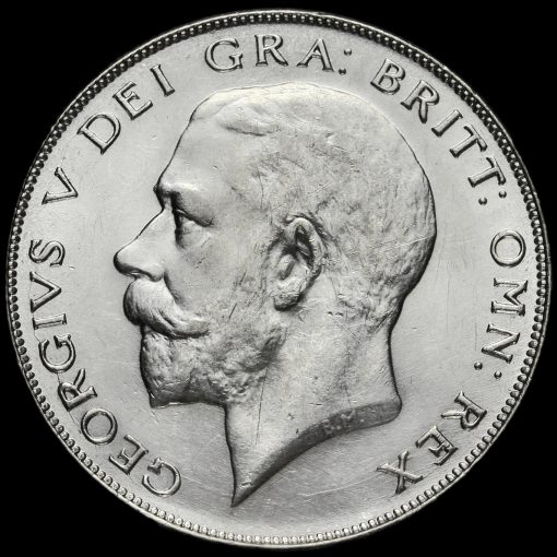 1926 George V Silver Half Crown Obverse