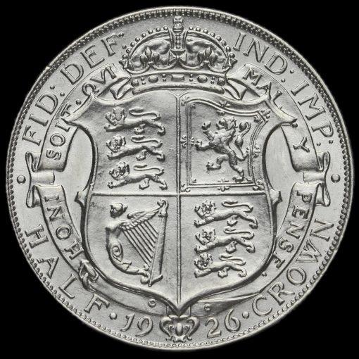 1926 George V Silver Half Crown Reverse