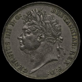 1821 George IV Milled Silver Secundo Crown Obverse