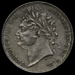 1825 George IV Milled Silver Sixpence Obverse