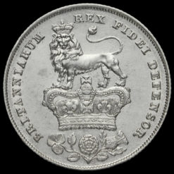1826 George IV Milled Silver Shilling Reverse
