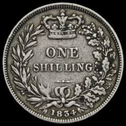 1834 William IV Milled Silver Shilling Reverse