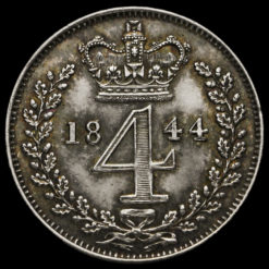 1844 Queen Victoria Young Head Silver Maundy Fourpence Reverse