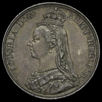 1887 Queen Victoria Jubilee Head Silver Crown Obverse