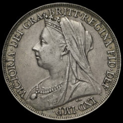 1895 Queen Victoria Veiled Head Silver LIX Crown Obverse