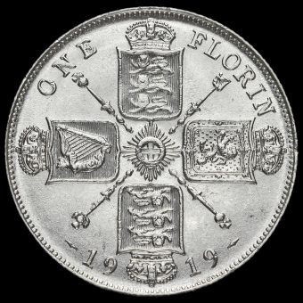 1919 George V Silver Florin Reverse