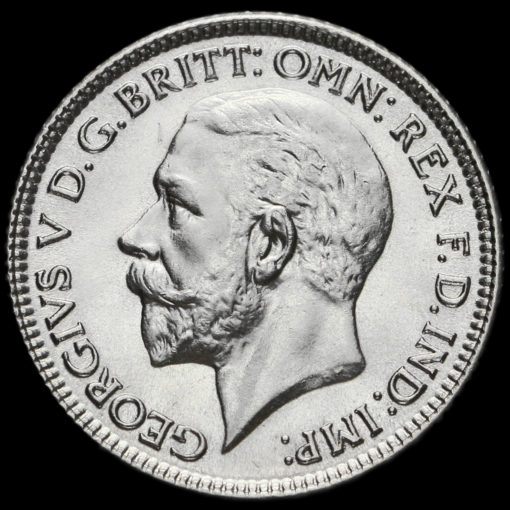 1929 George V Silver Sixpence Obverse