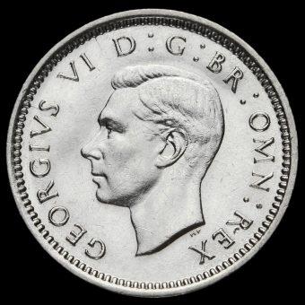 1943 George VI Silver Threepence Obverse